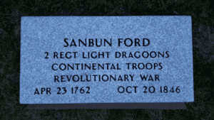 Sanbun Ford grave marker