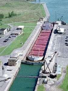 The Eisenhower Locks in Massena