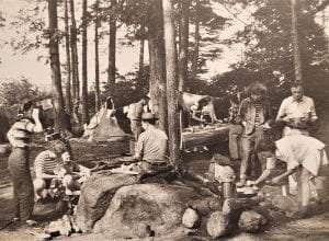 Tramp and Trail Club camping in the 1950s.
