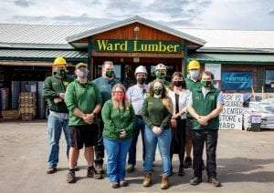 Ward Lumber staff at the Jay, N.Y. store