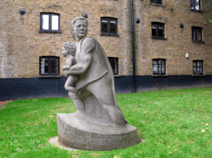 Christopher Jones statue at St Mary the Virgin Church