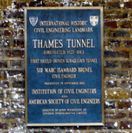 Commemorative plaque at Rotherhithe Station
