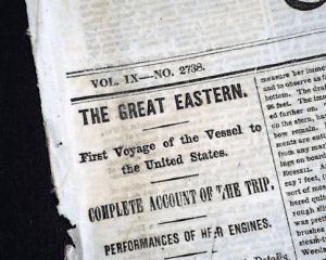 Front page of the New York Times June 29 1860