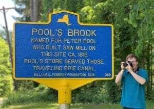 Pool's Brook historic marker courtesy Pomeroy Foundation