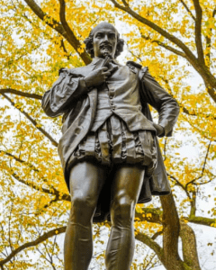 Shakespeare statue in Central Park