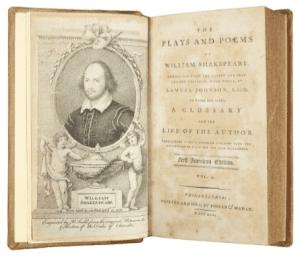 Shakespeares first American edition Philadelphia