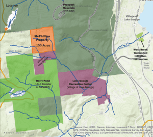 map of West Brook and Prospect Mountain addition courtesy LGLC