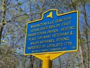 Washingtonville Cemetery Sign
