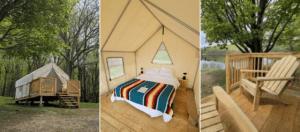 platform tent campsites