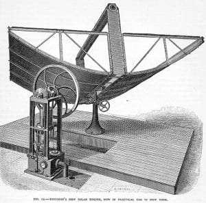 1883 Ericsson Solar Steam Engine