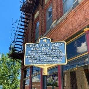 The Gut historic marker