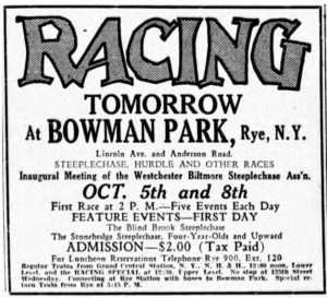 Bowman Park ad from the New York Sun