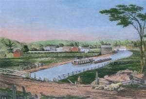 Erie Canal in 1829