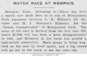 match race at memphis