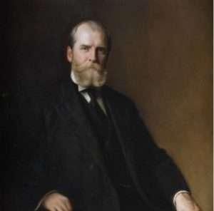 Gov Hughes painting