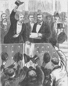 Grant at Centennial Exposition in Philadelphia