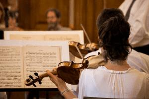 LPS closeup of violin player