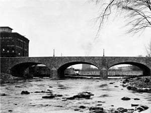 Plattsburgh's Stone Arch Bridge ca. 1930 courtesy Clinton County Historical Association