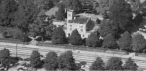 Manice Mansion with tower in relation to Hempstead Turnpike courtesy NYS Archives