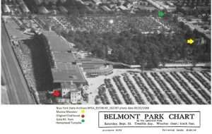 relation of Belmont Park structures to the Manice Mansion