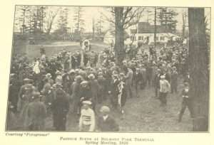 Belmont Park Terminal paddock from a 1926 United Hunts program courtesy Keeneland Library Collection