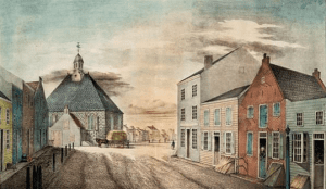 The first Dutch Church on the crossing of Jonker and Market Street