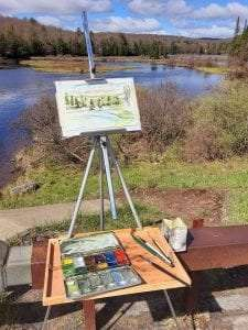 Plein Air painting provided by View