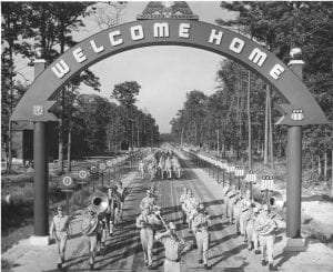 WWII welcome home ceremony courtesy National Archives and Records Administration