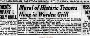 Worden Hotel newspaper article from the Saratogian