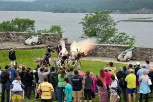 cannon demonstration at Fort Ticonderoga