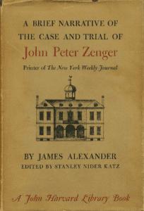case and trial of john peter zenger