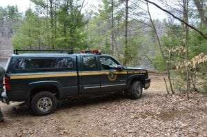 Forest Ranger truck provided by Adirondack Wild