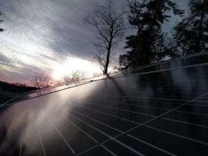 new solar array at Grant Cottage Historic Site