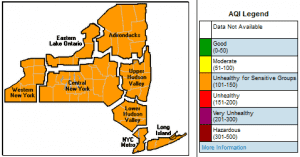 Air Quality Index Forecast for New York State