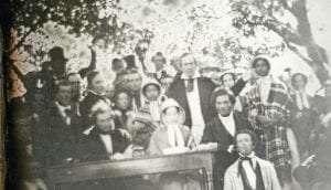 Madison County Historical Society daguerreotype of the 1850 Cazenovia Convention courtesy Madison County Historical Society
