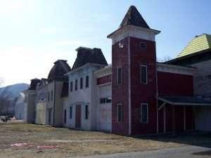 Buildings at the former Gaslight Village Property in Lake George Village by John Warren