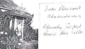 Harriet Frishmuth at her stuido cottage in the Adirondacks
