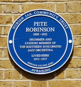 Memorial plaque on the front of 8 Crewsdon Road Lambeth