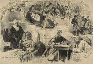 Our Women in the War a wood engraving on paper by Winslow Homer Harpers Weekly Sept 1864