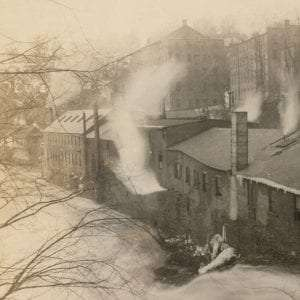 Mills along the lower Poestenkill Courtesy Rensselaer County Historical Society.