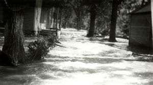 Flooding of the Poesten Kill in Postenkill Village (Courtesy Poestenkill Historical Society)