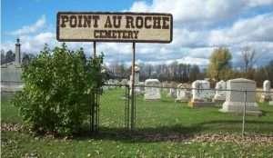 Point Au Roche cemetery courtesy Clinton County Historical Association