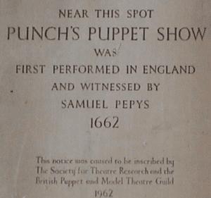 Punchs Puppet Show mural