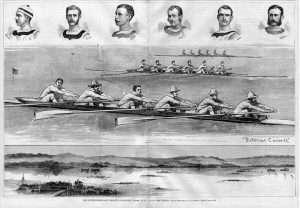 The Great Intercollegiate Regatta of 1874 on Saratoga Lake