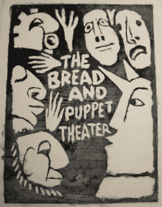 early poster for Peter Schumanns Bread and Puppet Theatre