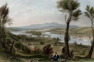 1838 W H Bartlett View from Mount Ida Hand colored steel engraving