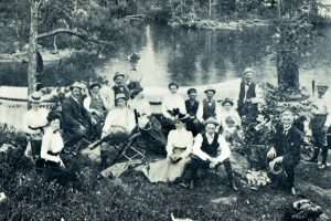 A party of guests of the Worden Hotel, Lake George