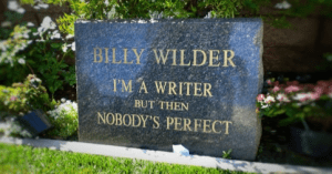 Billy Wilders tombstone