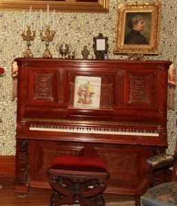 Caroline Harrisons piano courtesy Benjamin Harrison Presidential Site