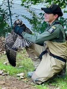 ECO DuChene with fledgling osprey